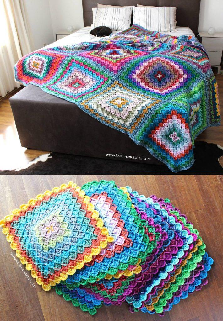 Free Crochet Pattern for a Bavarian Buster Blanket