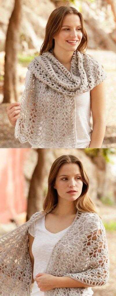 Free Crochet Pattern for a Garden Trails Lace Stole