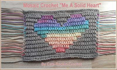 Free Crochet Pattern for a Mosaic Heart