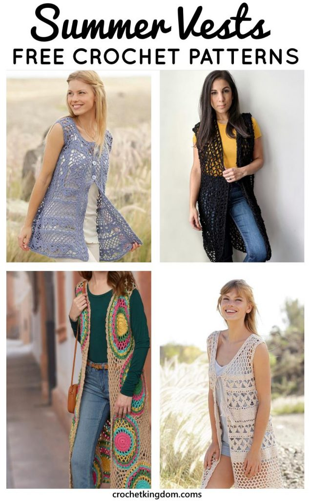 Free Crochet Patterns for Summer Vest Beach Coverups