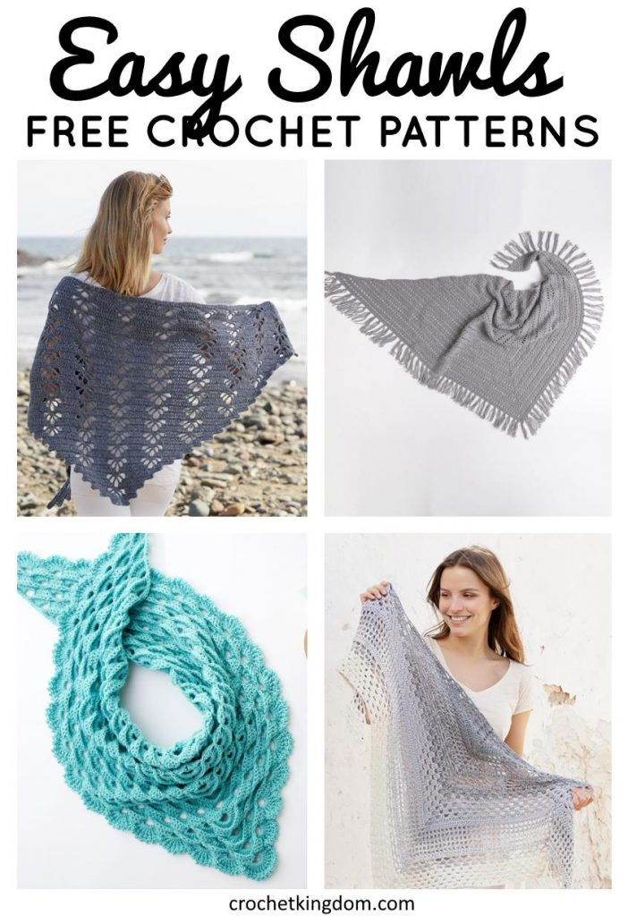 Free and easy crochet shawl patterns