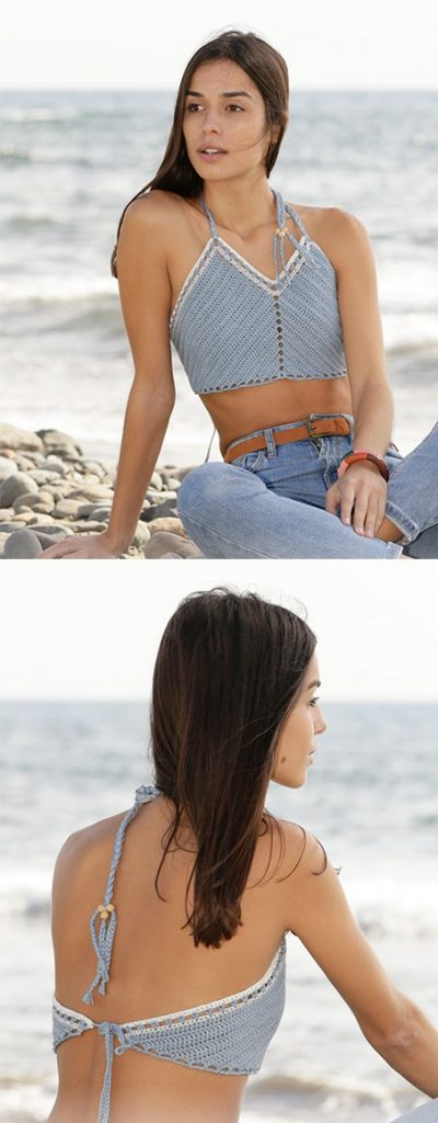 Free crochet pattern for a halter top
