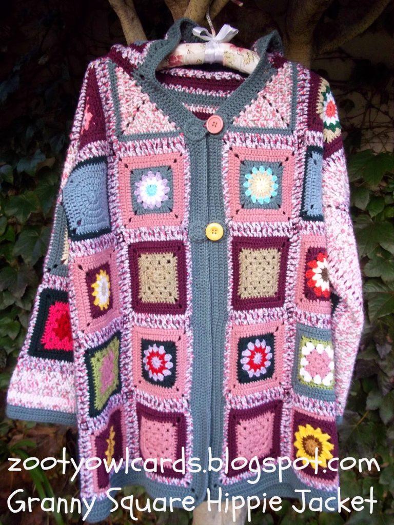 Granny Square Hippie Jacket Pattern Crochet