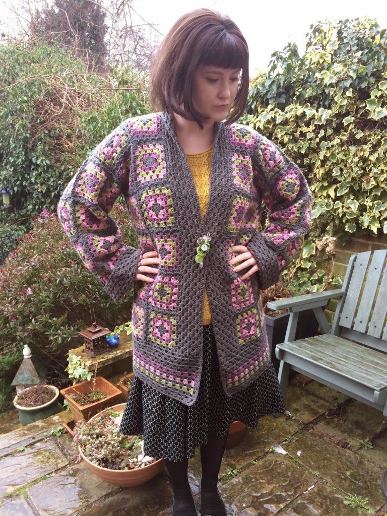 Granny Square Jacket Coat