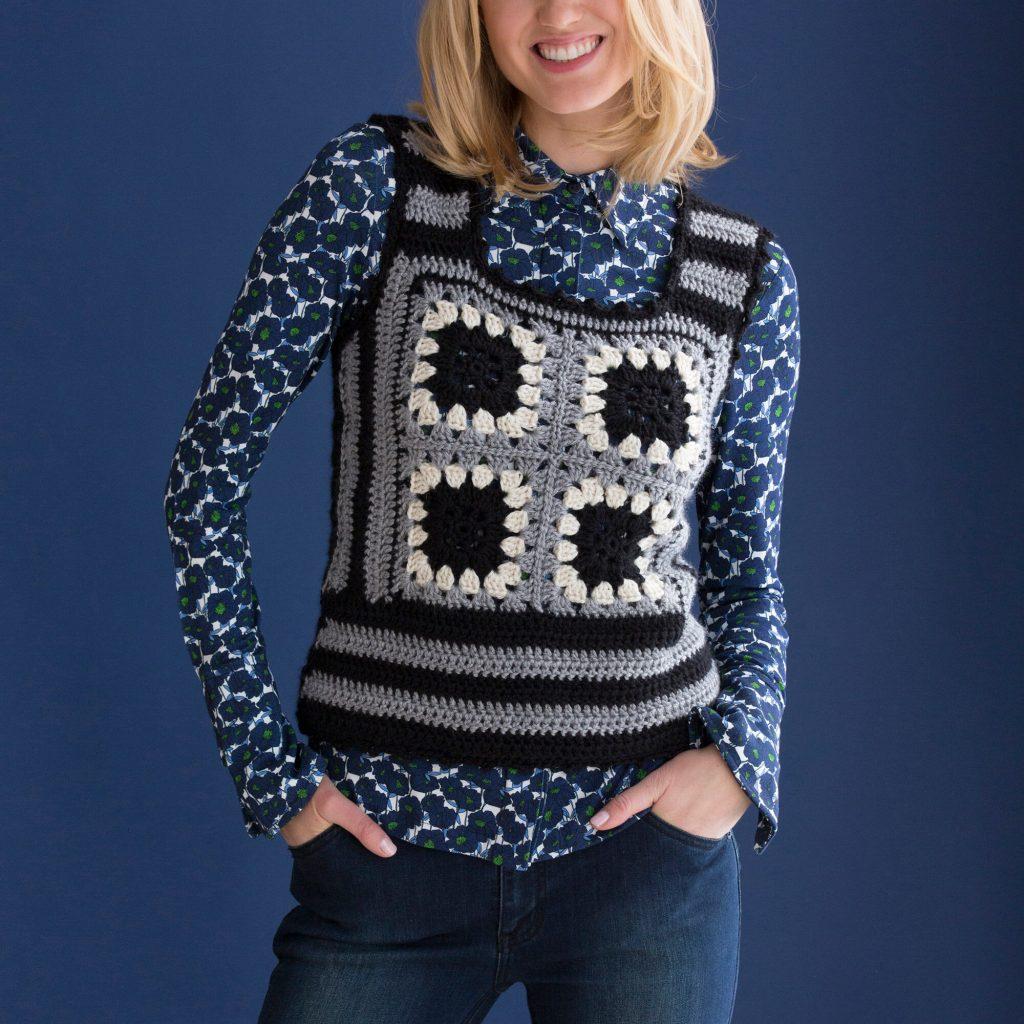 Granny square vest pattern