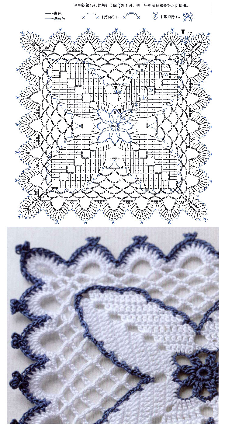 Lace Crochet Square Diagrams