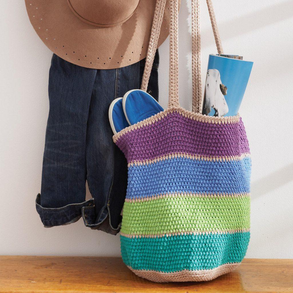 Lily Sugar'n Cream crochet market bag free pattern