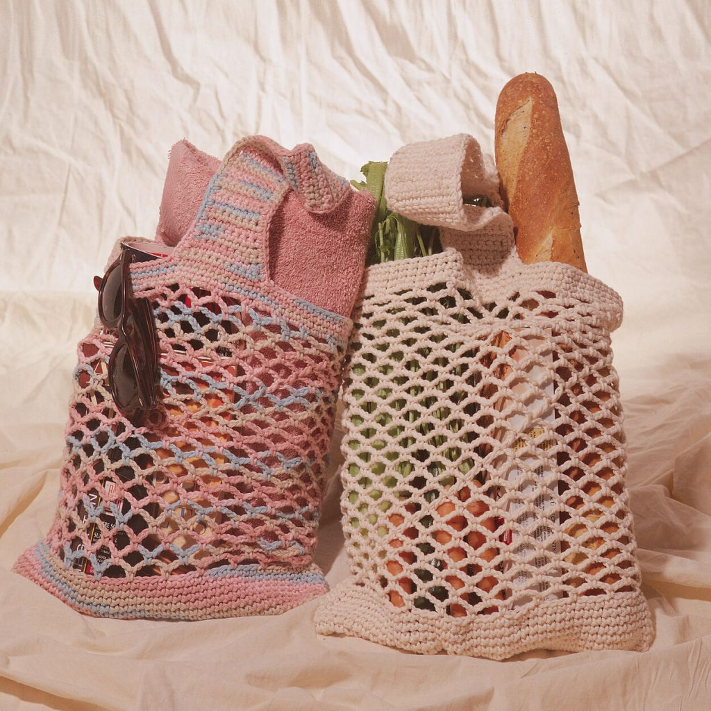 Market green bag free pattern to crochet
