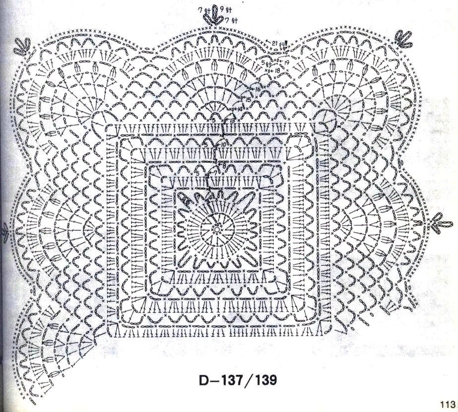Square Crochet Doily Patterns With Diagrams  U22c6 Crochet Kingdom