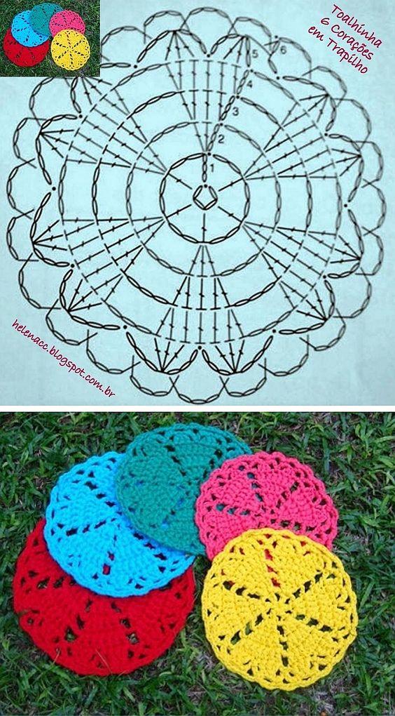 Crochet coaster pattern pinterest
