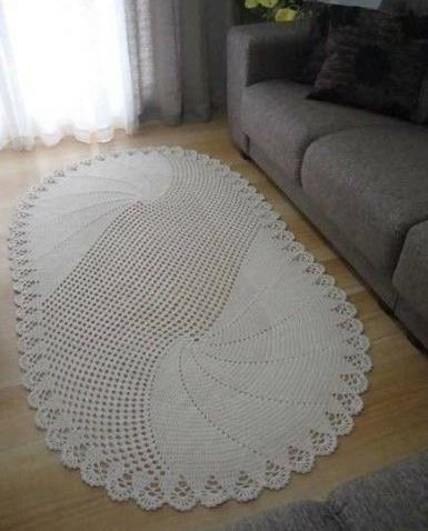 Crochet oval rug diagram pattern