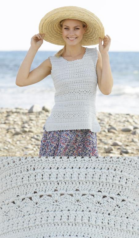 Crochet summer tank top free pattern