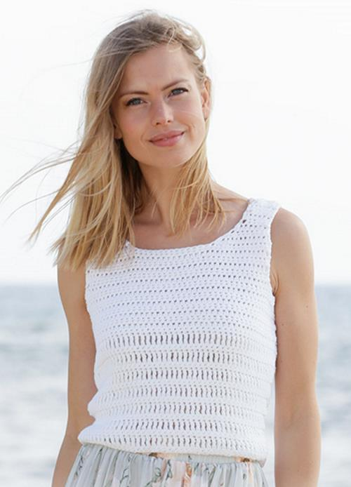 Free crochet pattern for a classic tank top