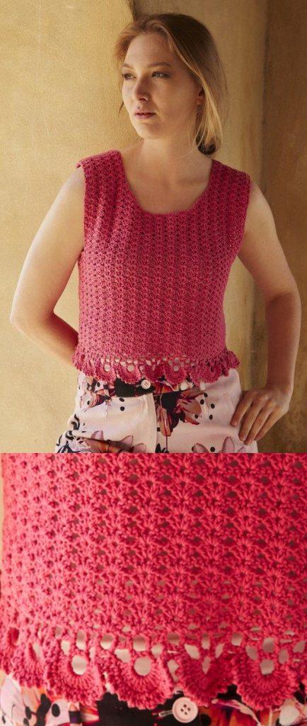 Free crochet pattern for a tank top