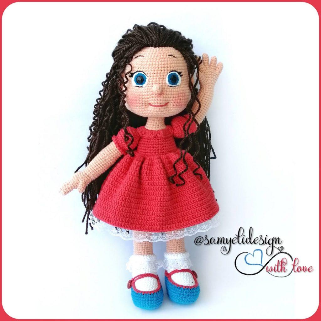 Free doll amigurumi crochet pattern