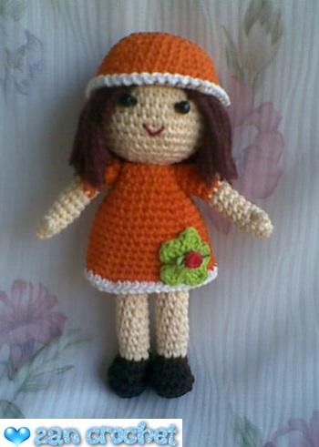 Free easy amigurumi doll crochet pattern