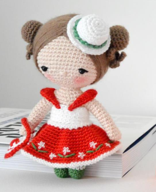 free crochet pattern for an amigurumi doll