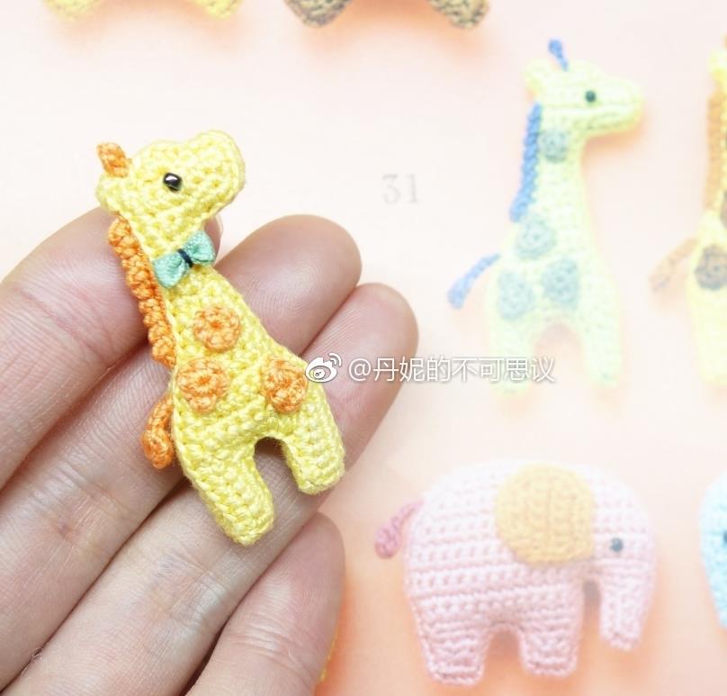 small giraffe applique to crochet
