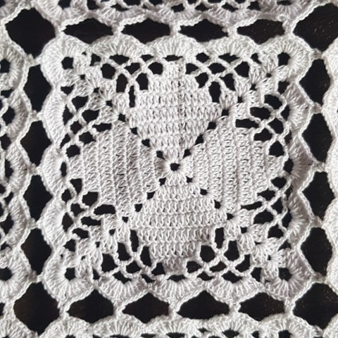 Crochet Lacy Square Diagram Pattern