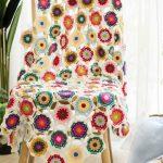 Crochet Flower Hexagon Blanket