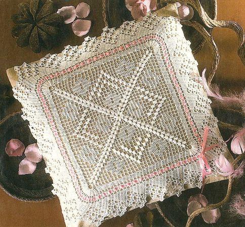 Crochet lace pillow cover