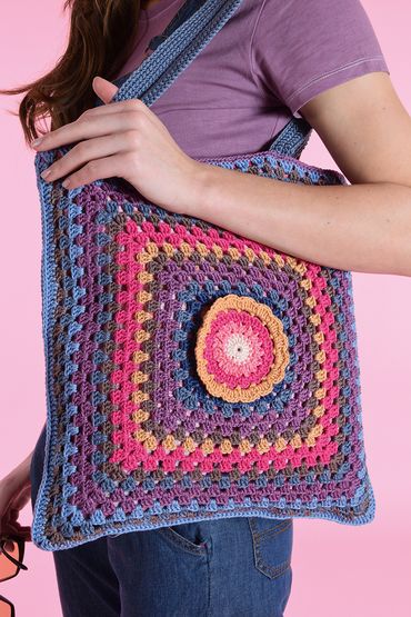 Free crochet tote pattern granny square