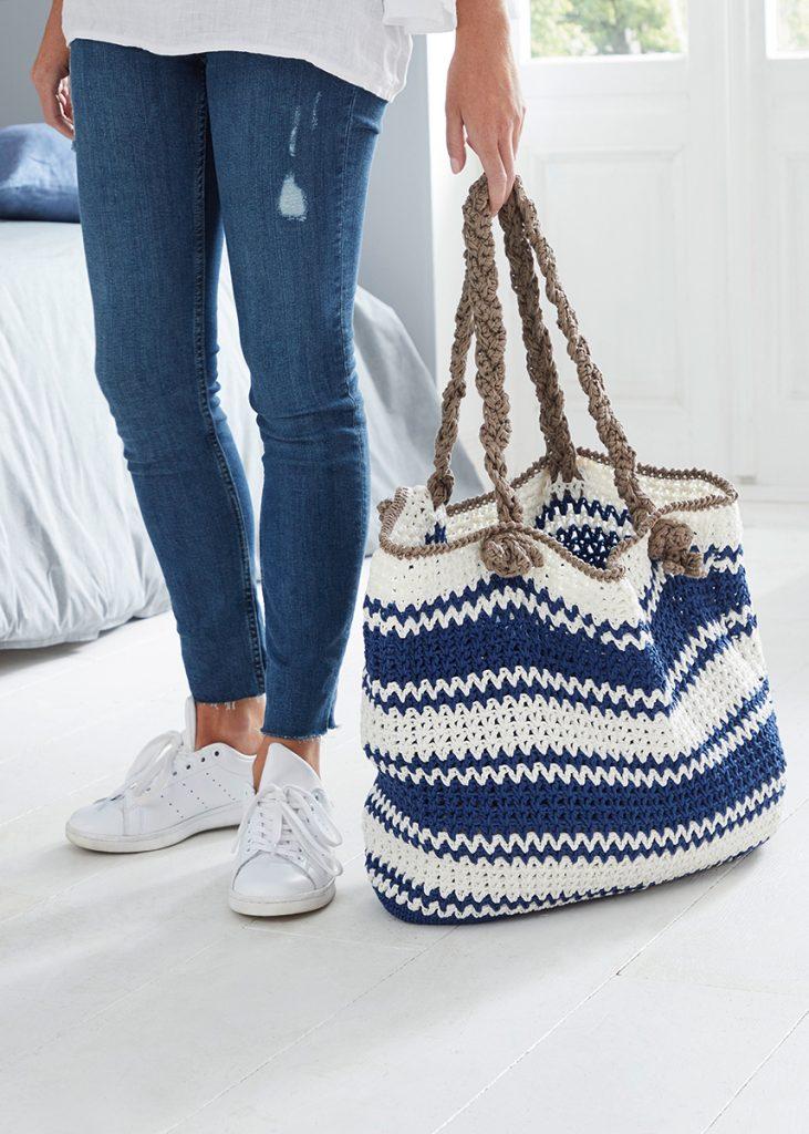 Free crochet tote pattern v stitch