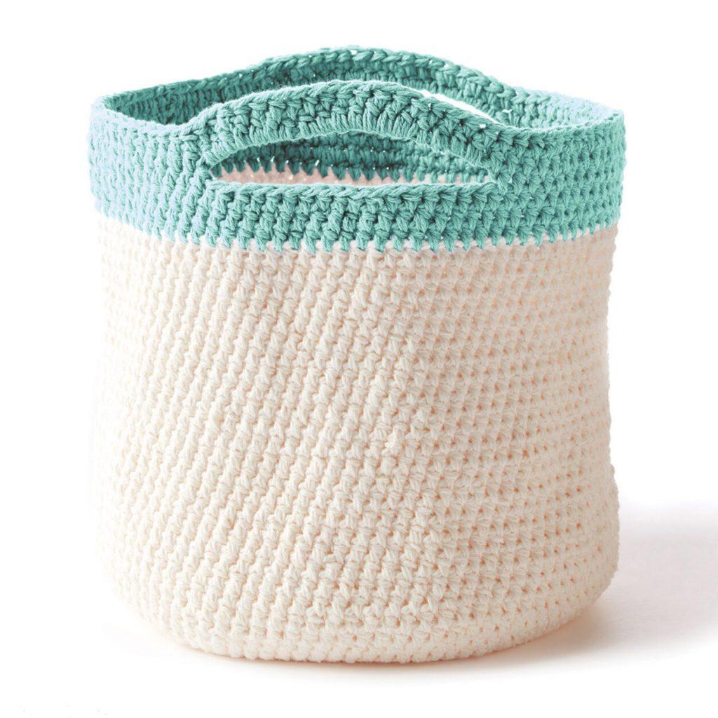 Handy crochet basket tote free pattern