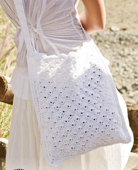 Pretty crochet bag free pattern