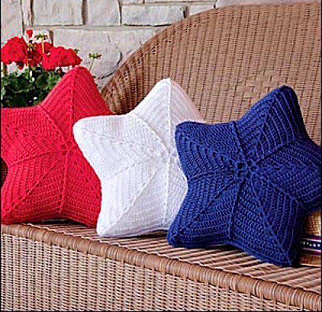 Star pillow crochet diagram pattern