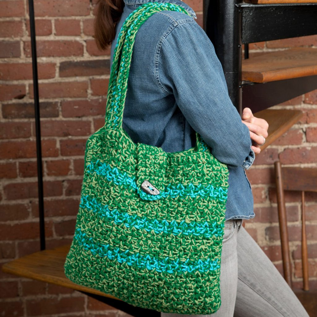 easy free crochet pattern for a tote bag