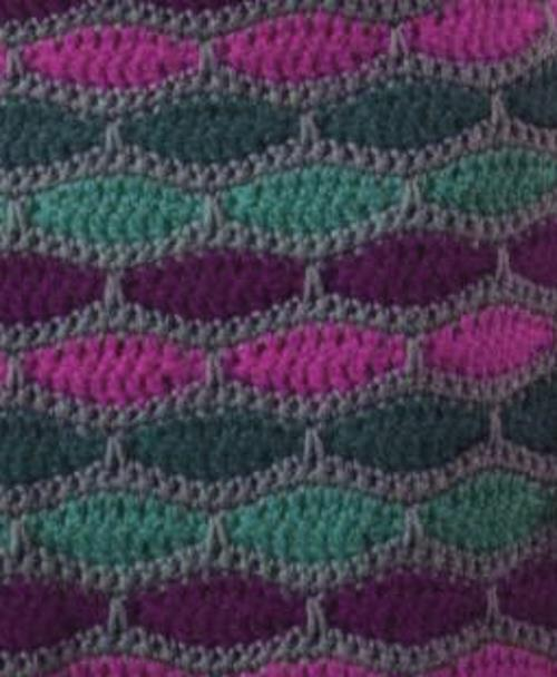Wave and Colors Crochet Stitch Diagram