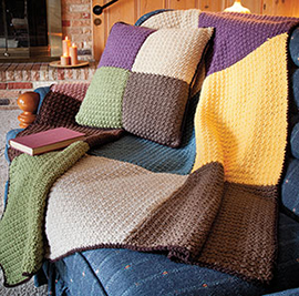 Easy crochet afghan solid square pattern