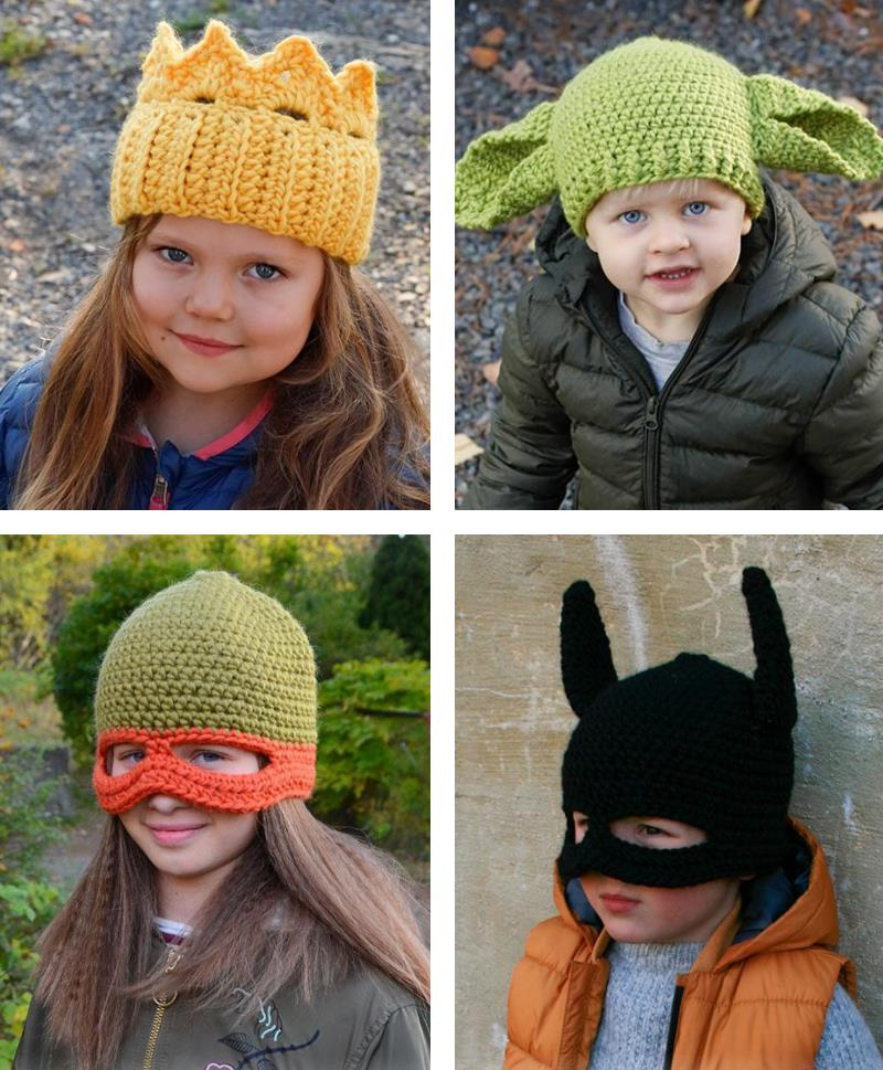 Free Crochet Pattern for Kids Halloween Hats