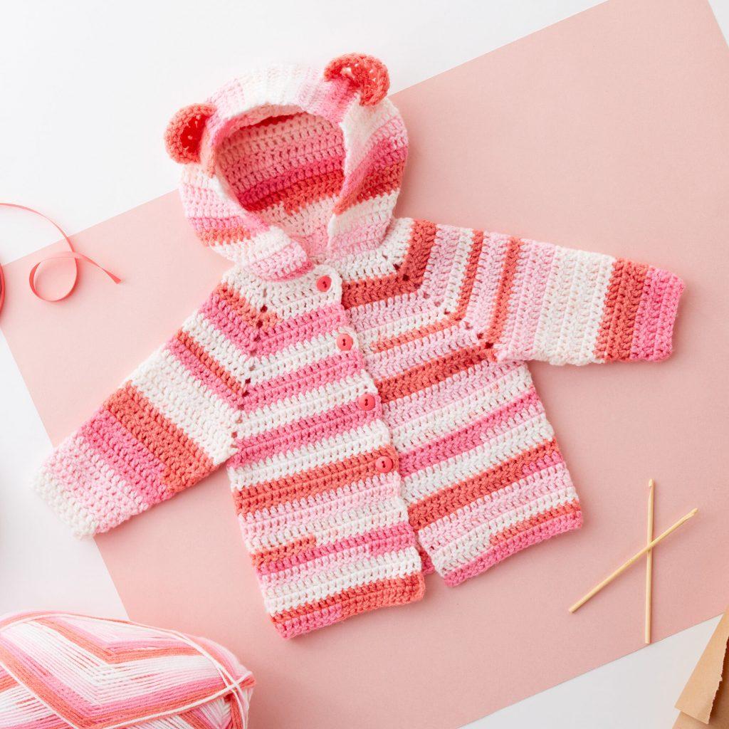 Free Crochet Patterns for Babies Cardigans Hoodie