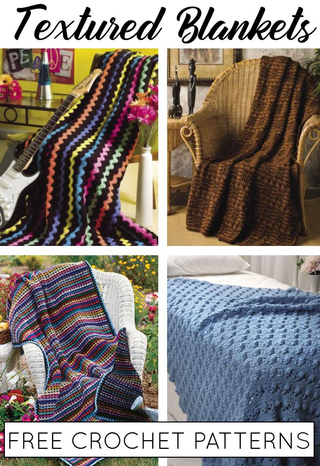 Free Textured Crochet Blanket Patterns
