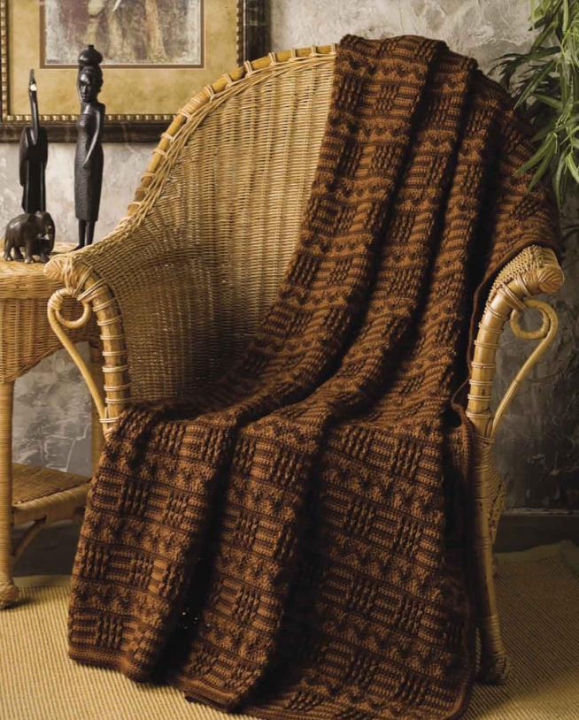 Free crochet blanket African tribal pattern