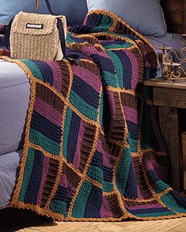 Free crochet blanket pattern with solid blocks