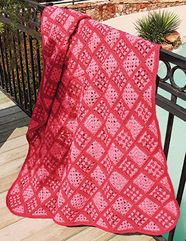 Free crochet blanket pattern with squares