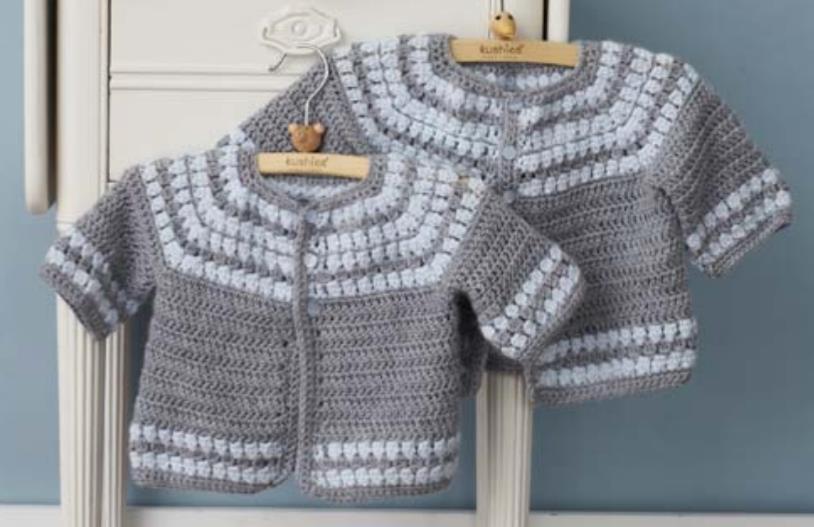 Free crochet cardigan pattern for babies