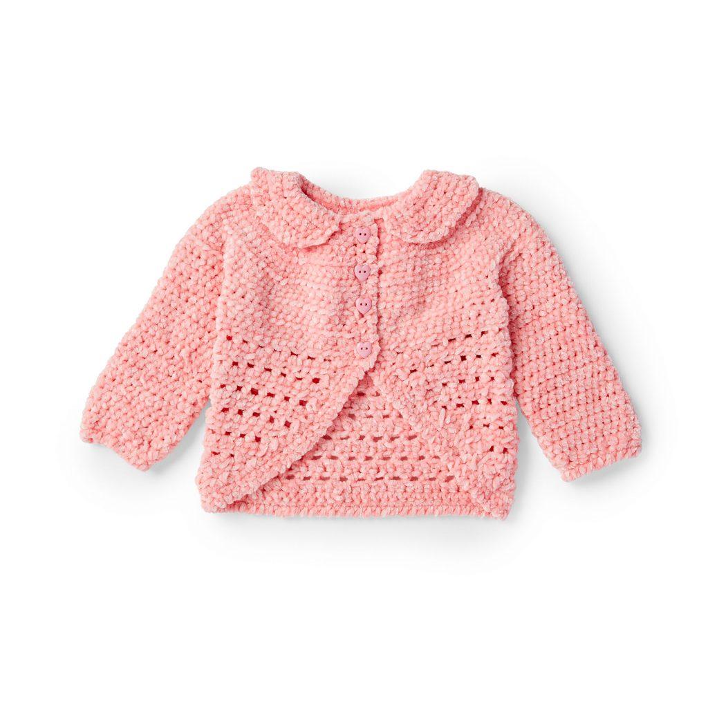Free crochet cardigan pattern for baby girls