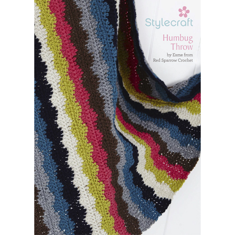 Free crochet pattern for a stripped wavy throw