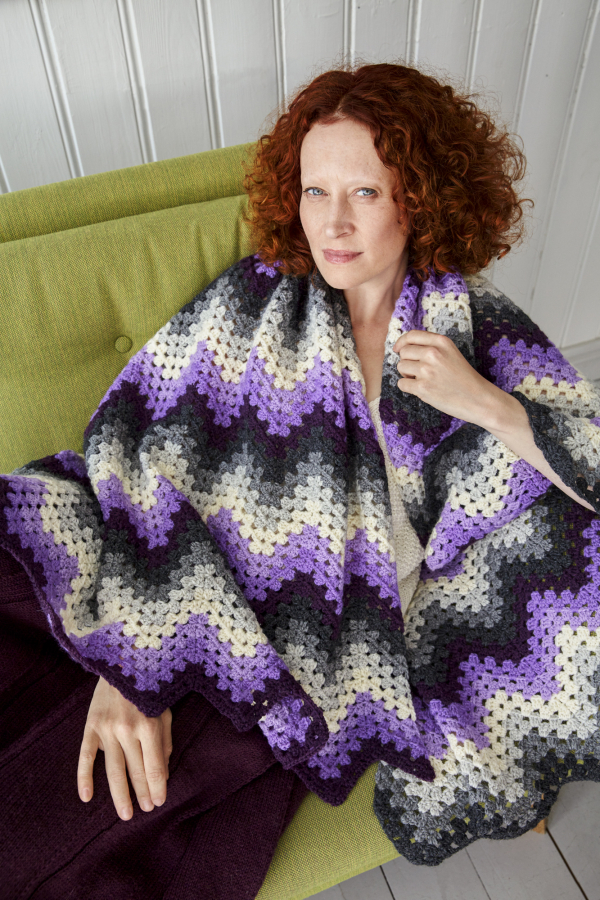 Granny Ripple Stitch Blanket Pattern Free