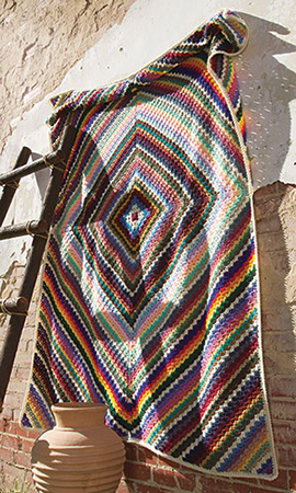 Massive colorful square crochet afghan pattern