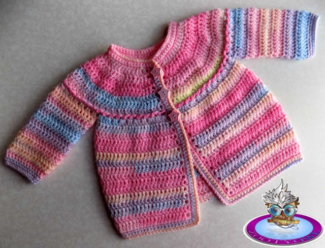 Quick and easy baby cardigan crochet pattern