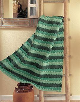 Spring waves free crochet blanket pattern