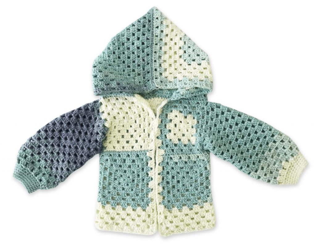 The Crochet Granny Jacket Free Pattern for Kids