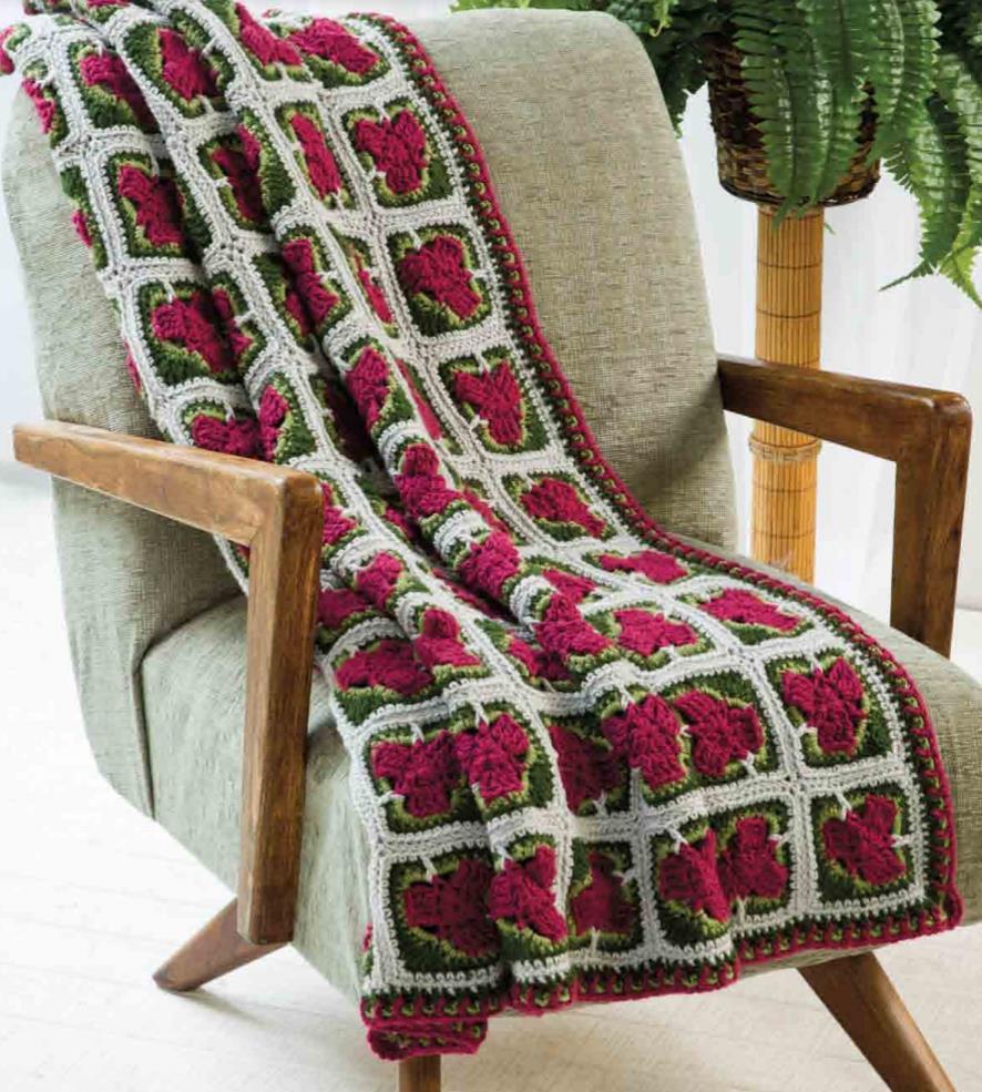 Unique squares free crochet afghan pattern