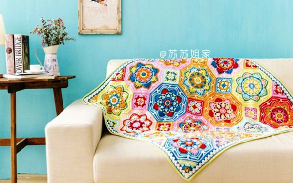 scrap afghan crochet pattern