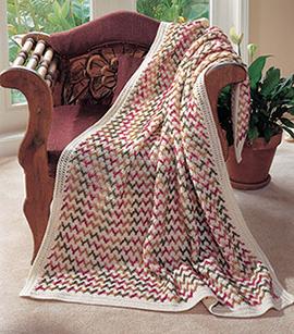 zigzag rows free crochet blanket pattern